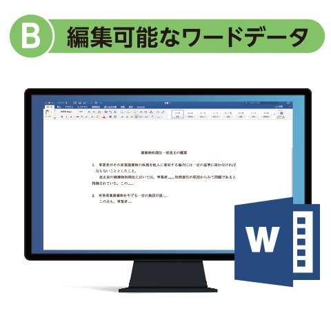 B. 編集可能なワードデータ