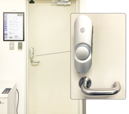 入退室管理のできるロック