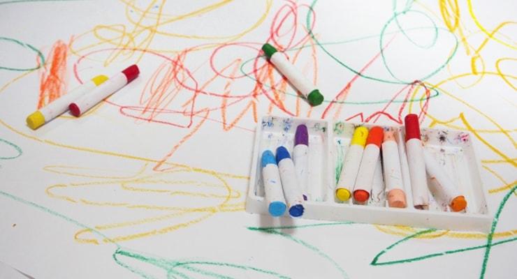 子どもの落書きであっても著作権が発生します。